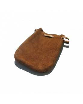 1 Brown Leather Bag - SOLIDAIRE