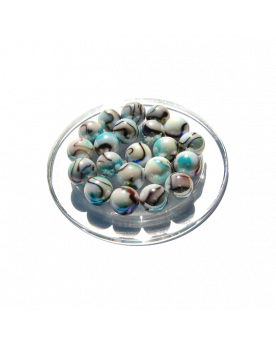 1 Marble Tigre-Blanc 16 mm Glass Marbles