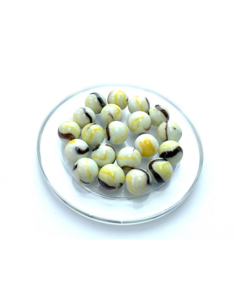 1 Marble Tigre-Jaune 16 mm Glass Marbles