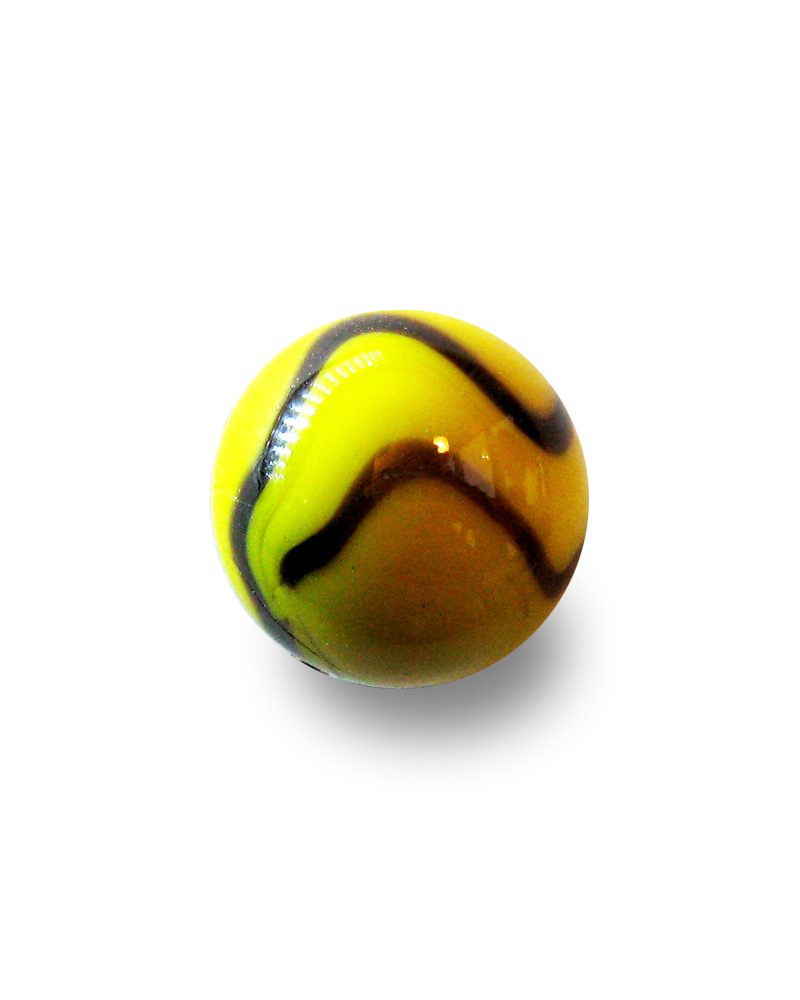 1 Shooter Marble Bee 25 mm Glass Marbles