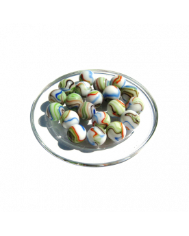 1 Marble Multi-Chiffonnade 16 mm Glass Marbles