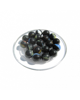 1 Marble Girafe-Noir 16 mm Glass Marbles