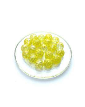 1 Marble Pépite-Jaune 16 mm Glass Marbles