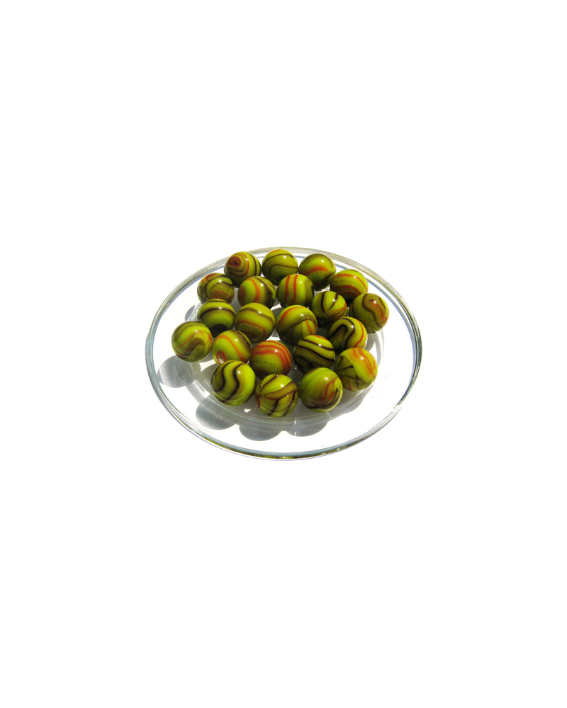 1 Marble Tricératops 16 mm Glass Marbles