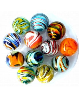 1 Shuffle Art Marble - 20 mm Glass Marble - SOLIDAIRE