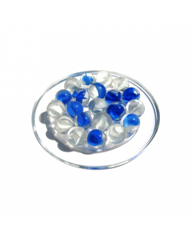 1 Marble Ours-Blanc 16 mm Glass Marbles