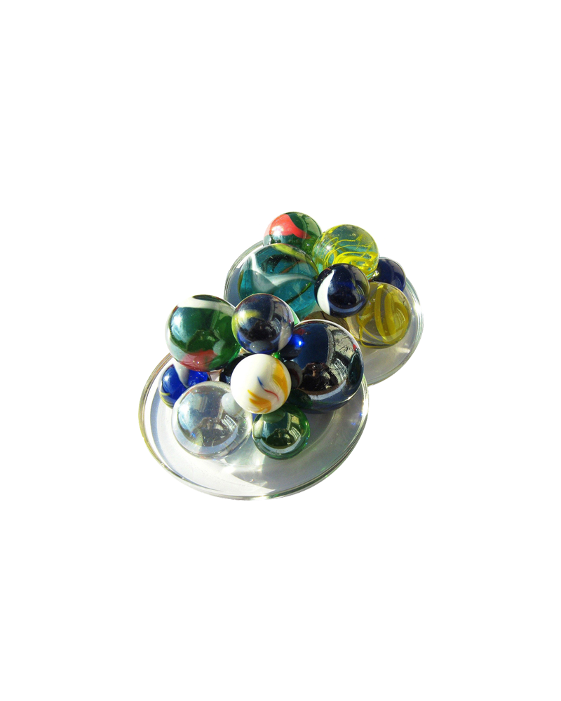 1 Pack 25-Grandes Glass Marbles