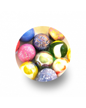 1 Pack 12-Filles Glass Marbles