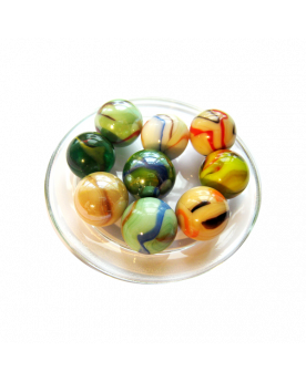 9 Big Spring Glass Marbles - SOLIDAIRE