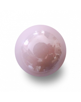 1 Bille Rose Glossy - Bille en Verre 16 mm