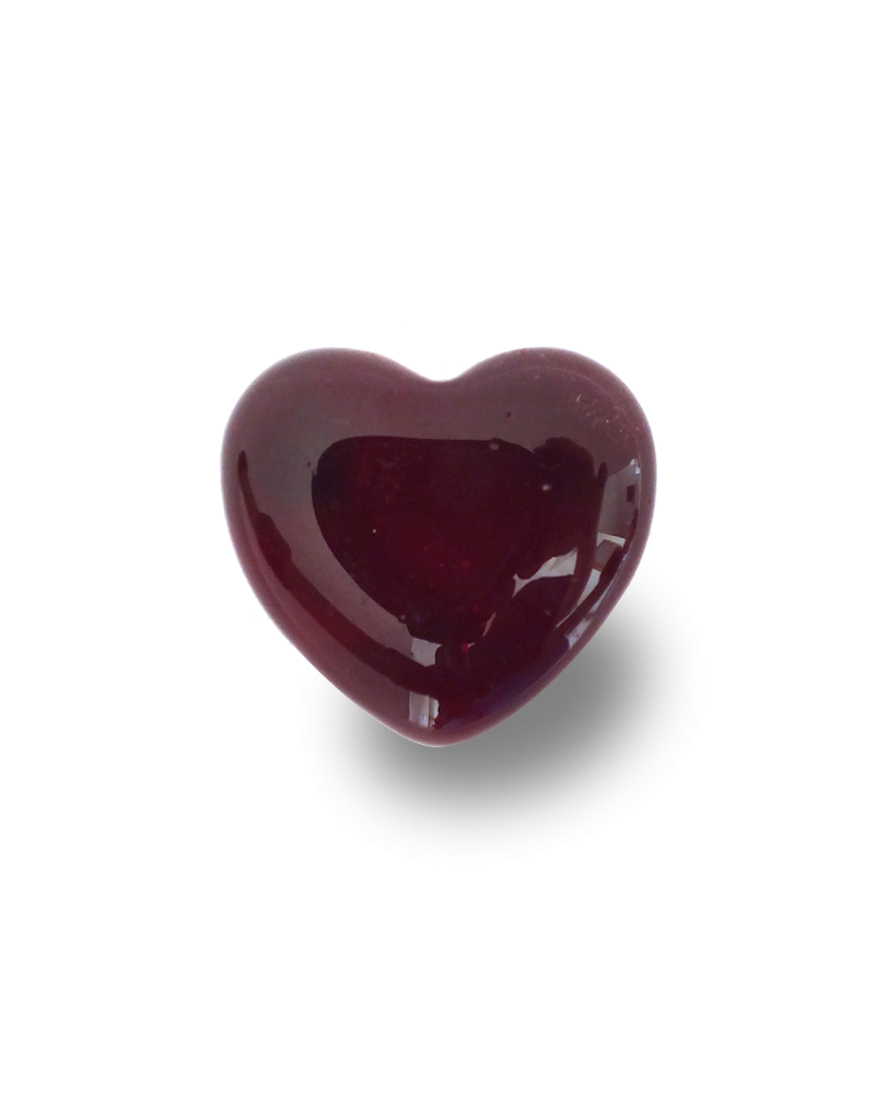 1 Red Heart Marble - 25 mm Glass Marble - SOLIDAIRE