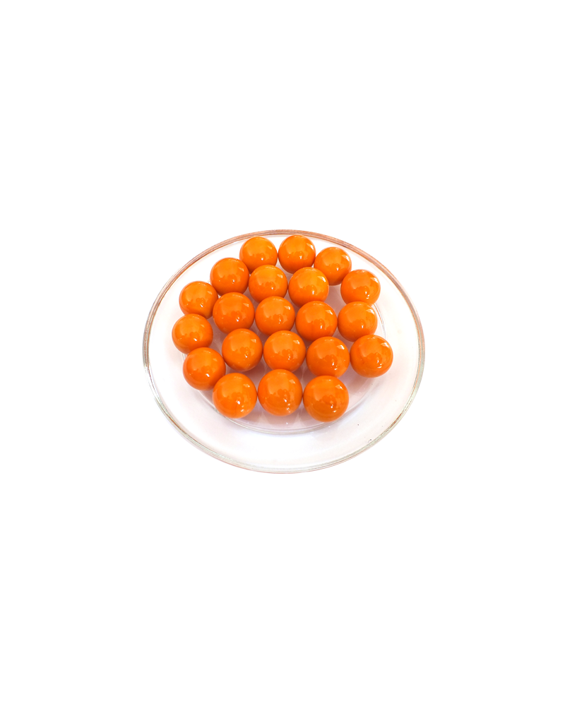 1 Marble Orange-Perle 16 mm Glass Marbles