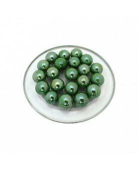 1 Glossy Green Marble - 16mm Glass Marble