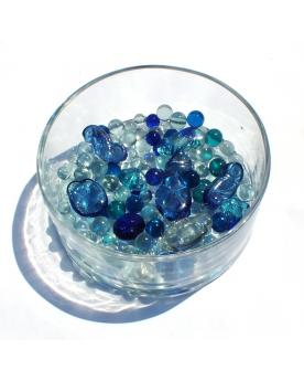 55 Navy Glass Marbles - SOLIDAIRE