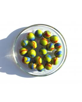 1 Marble Impressionniste 16 mm Glass Marbles