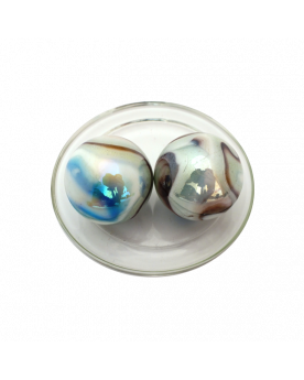 1 King Marble Tigre-Blanc 43 mm Glass Marbles