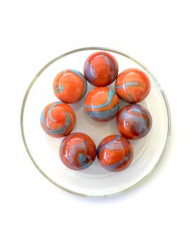 1 Shooter Marble Orange-Turquoise 25 mm Glass Marbles
