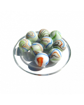 1 Shooter Marble Multi-Chiffonnade 25 mm Glass Marbles