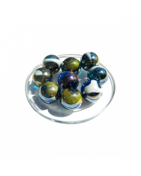 1 Shooter Marble Pétrole 25 mm Glass Marbles