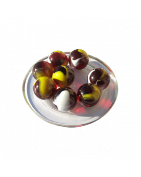 1 Shooter Marble Clown 25 mm Glass Marbles