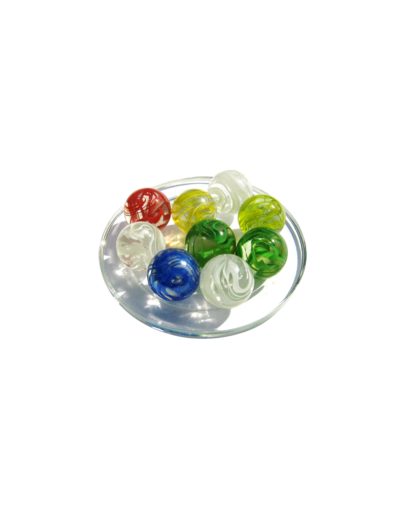 1 Shooter Marble Ribbon 25 mm Glass Marbles