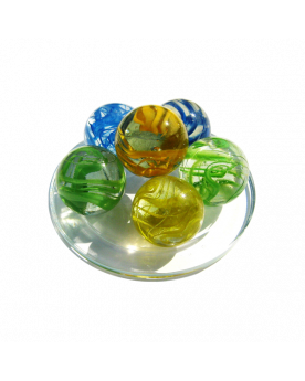 1 King Marble Ribbon 43 mm Glass Marbles