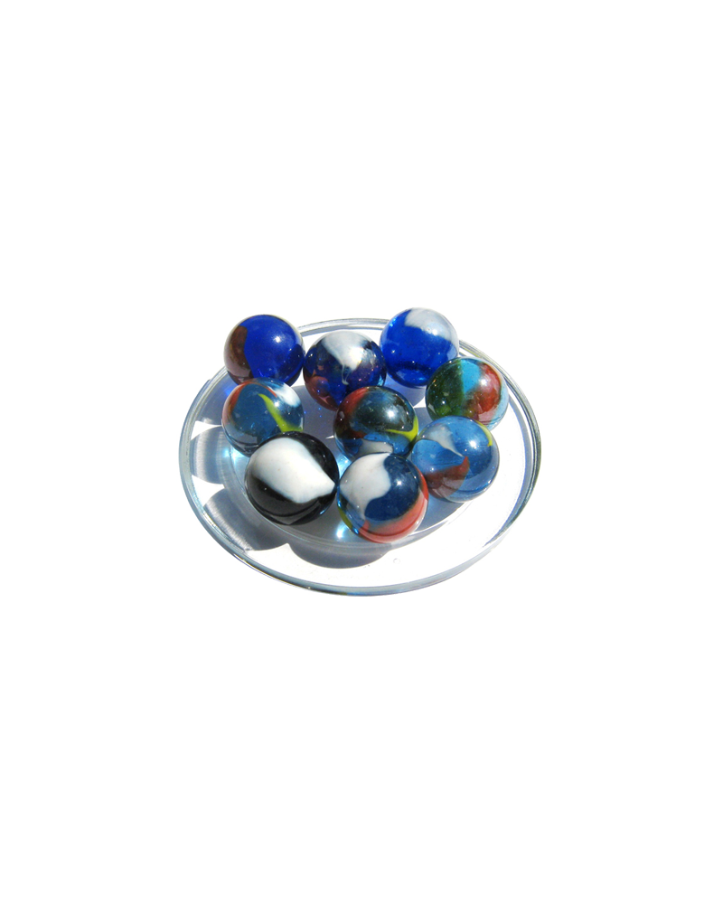 MyGlassMarbles - 4 Big Marble Neon light - Glass Marbles 25 mm by My GlassMarble