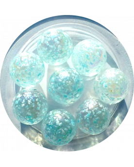 1 Shooter Marble Blue Nugget 25 mm Glass Marbles