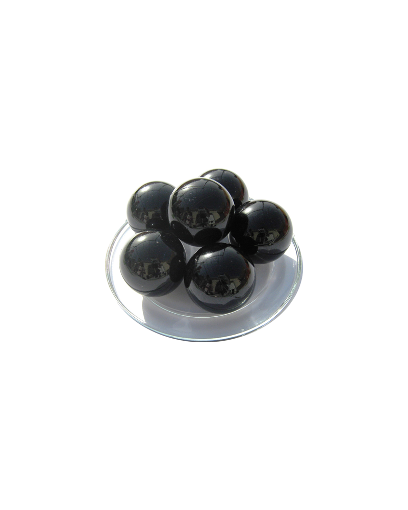 1 Large Marble Noir-Perle 35 mm Glass Marbles