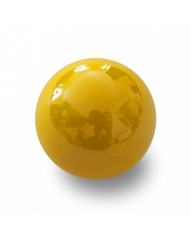 1 Big Yellow Glossy Marble - 25 mm Glass Marble