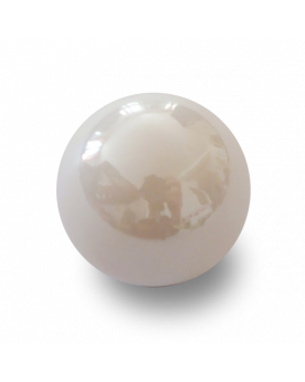 1 Big White Glossy Marble - 25 mm Glass Marble