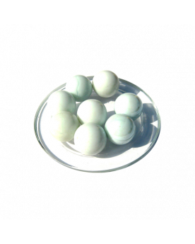 1 Shooter Marble Blanc-Perle 25 mm Glass Marbles