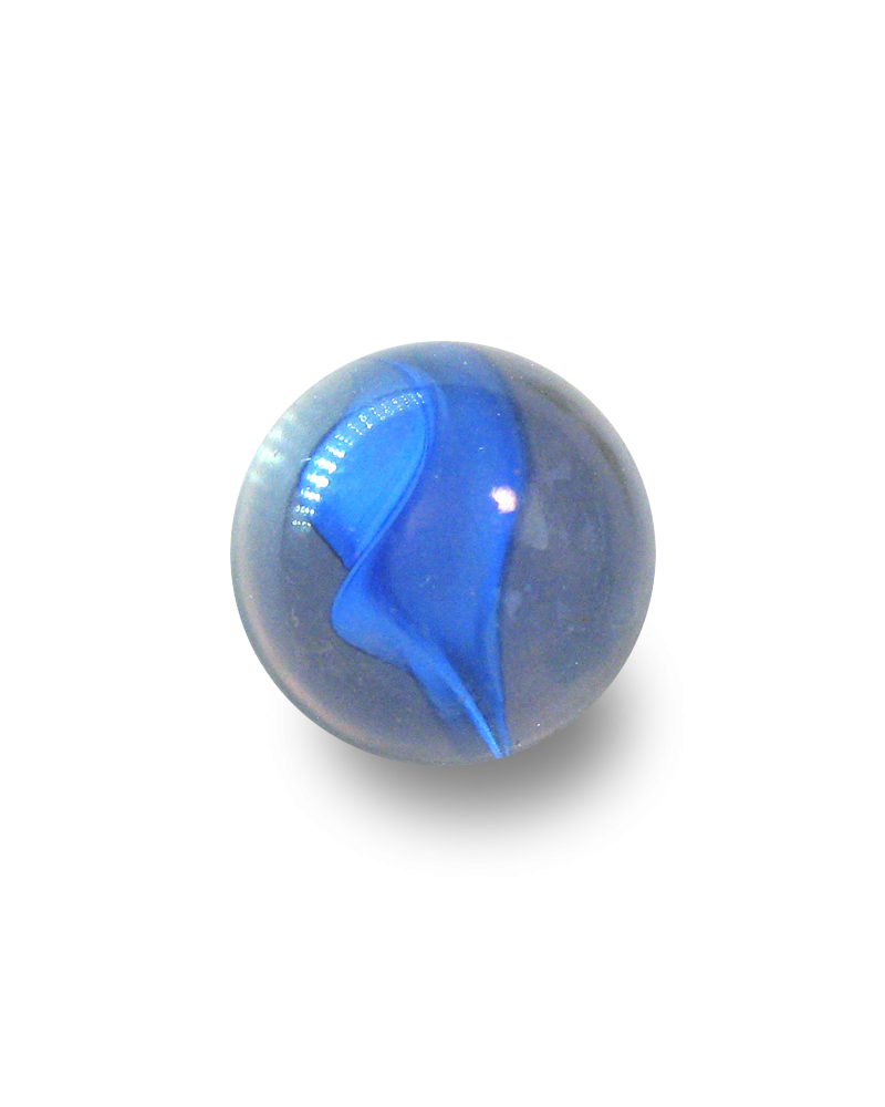 1 King Marble Ours-Blanc 43 mm Glass Marbles