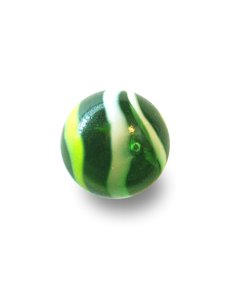 1 Giant Marble Pic-Vert 50 mm Glass Marbles