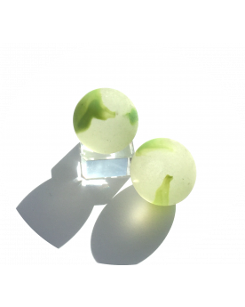 1 Shooter Marble Green Frosted 25 mm Glass Marbles