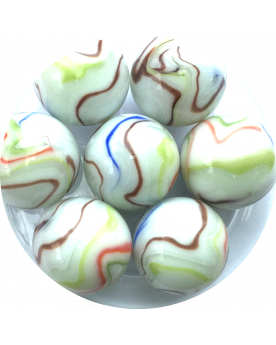 1 Large Marble Multi-Chiffonnade 35 mm Glass Marbles