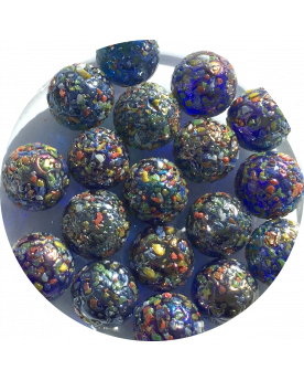 1 Marble Star Nugget 16 mm Glass Marbles