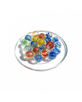 1 Marble Ribbon 16 mm Glass Marbles