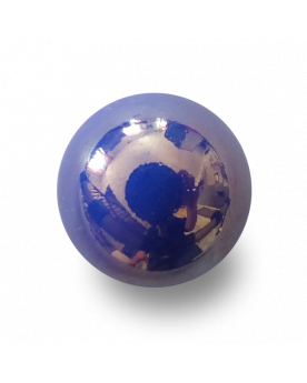 1 Medium Blue Glossy Marble - 20 mm Glass Marble