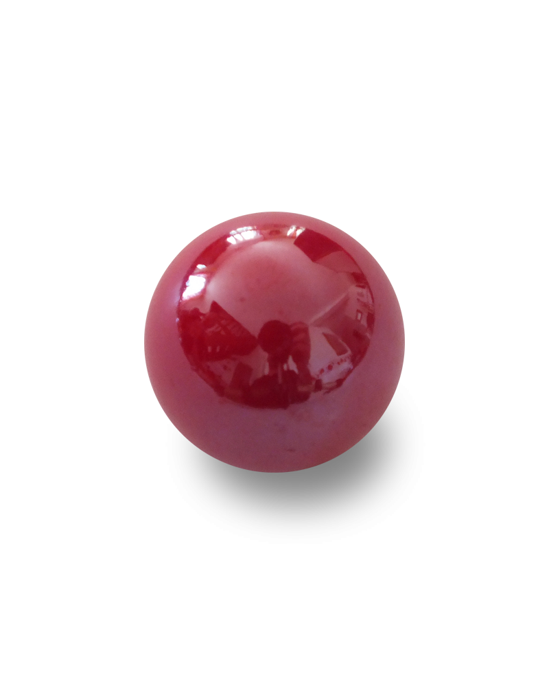 1 Medium Red Glossy Marble - 20 mm Glass Marble