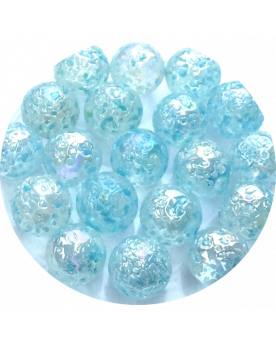 1 Little Marble Blue Nugget 14 mm Glass Marbles