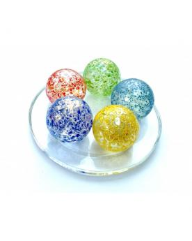 1 Large Marble Couleur-Pépite 35 mm Glass Marbles