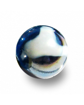 1 Large Marble Pétrole 35 mm Glass Marbles