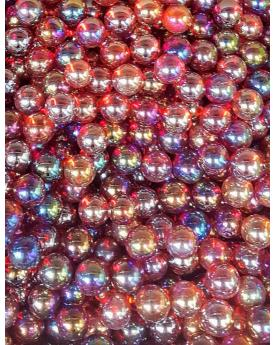 1 Small Red Iridescent Marble - 14 mm Glass Marble