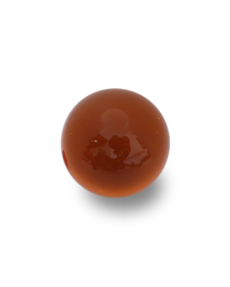 1 Shooter Marble Ambre-Loupe 25 mm Glass Marbles