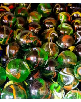 1 Shooter Marble Pic-Vert 25 mm Glass Marbles