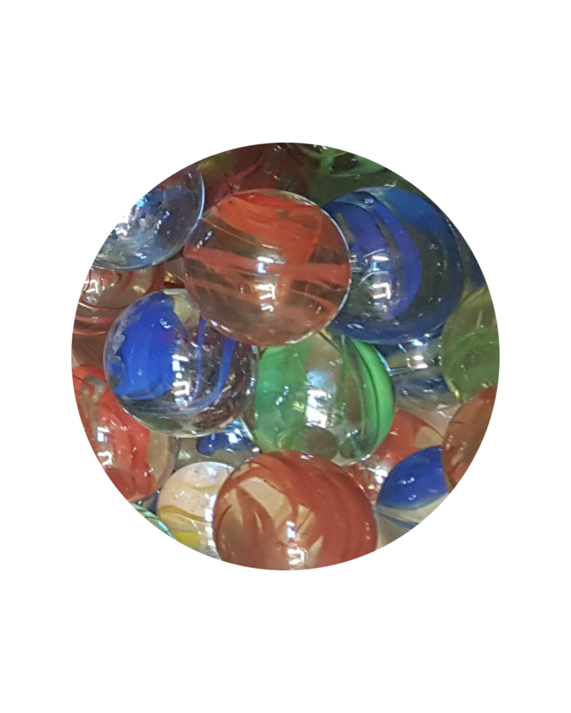 1 Large Marble Froissé 35 mm Glass Marbles