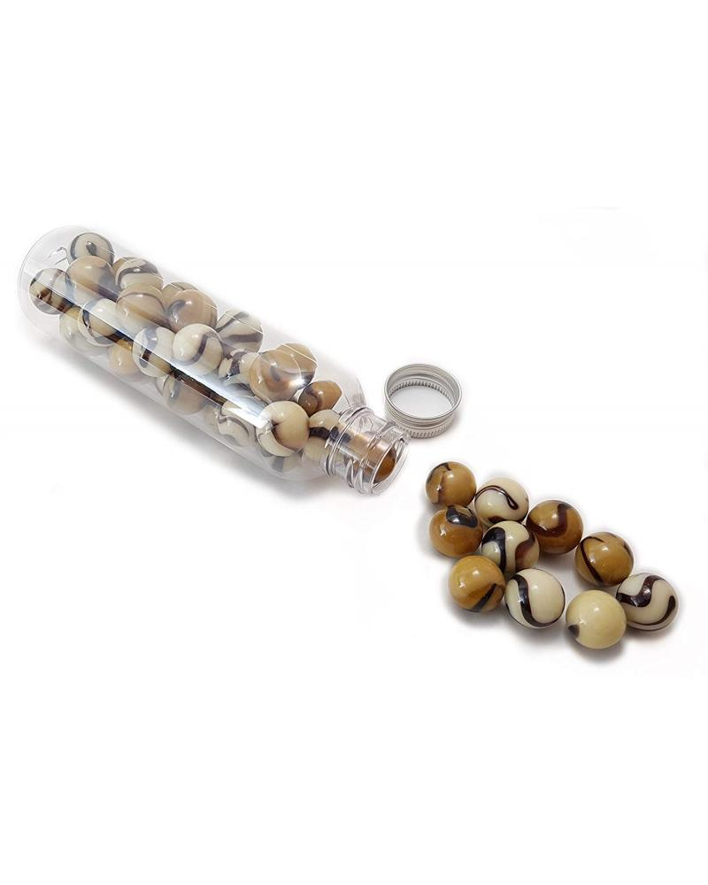 1 Marble Caramel 16 mm Glass Marbles