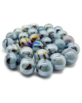 1 Marble Gris-Bleu 16 mm Glass Marbles