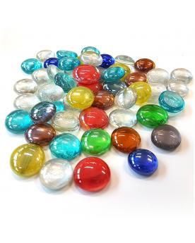 1 Flat Marble Couleurs-Plate 16 mm Flat Glass Marbles